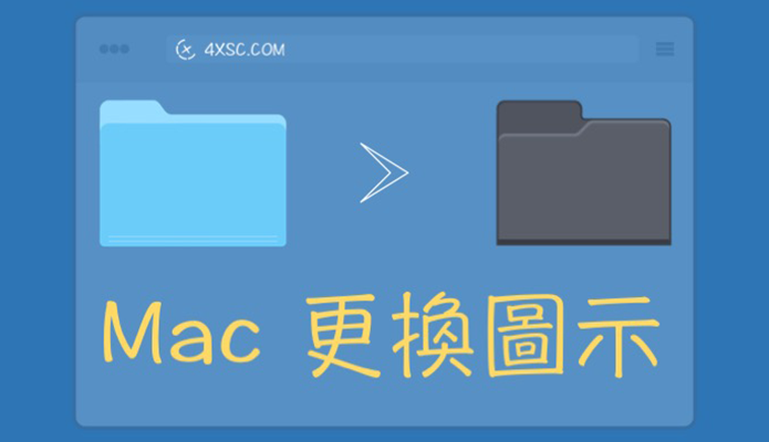 [Mac]Mac 更換資料夾 ICON 圖示(檔案也適用)替換ICON圖示